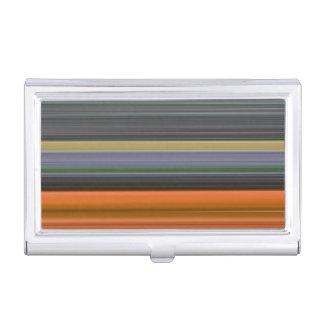 Porte-cartes De Visite #1 abstrait : Orange et gris