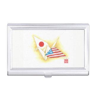 Porte-cartes De Visite Amitié Japon-États-Unis de ~ de caisse de carte de