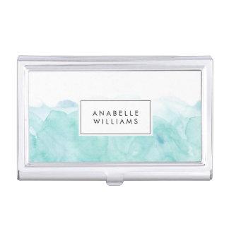 Porte-cartes De Visite Aquarelle de turquoise moderne
