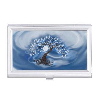Porte-cartes De Visite Arbre bleu-foncé d'étui de cartes de société