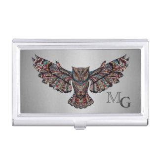 Porte-cartes De Visite Art métallisé de hibou