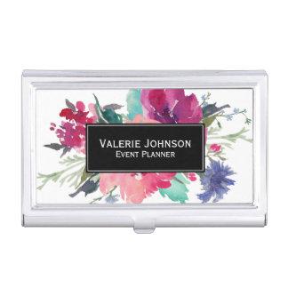 Porte-cartes De Visite Bouquet floral d'aquarelle