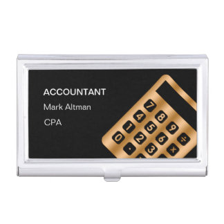 Porte-cartes De Visite Caisse de carte de visite chique de comptable