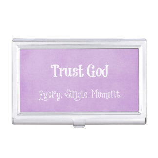 Porte-cartes De Visite Citation de Dieu de confiance