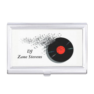 Porte-cartes De Visite Disque vinyle de jockey de disque du DJ de