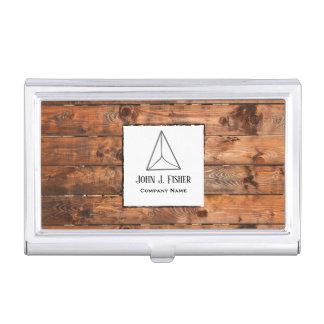 Porte-cartes De Visite Fibre de bois rustique élégante