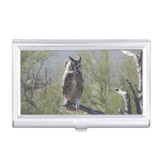 Porte-cartes De Visite Grand hibou à cornes