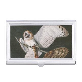 Porte-cartes De Visite Hiboux de grange, les oiseaux de l'Amérique John