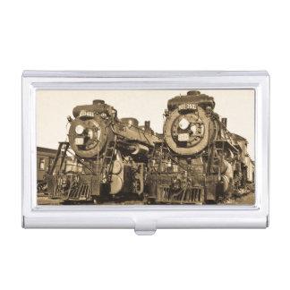 """Porte-cartes De Visite """"Jumelle"""" les locomotives nationales canadiennes"""