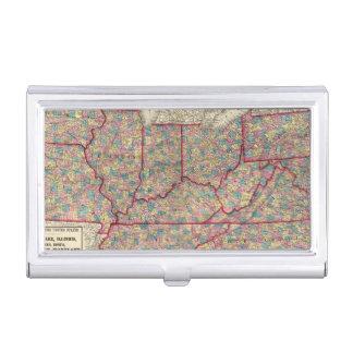Porte-cartes De Visite Le Delaware, l'Illinois, l'Indiana, et l'Iowa