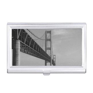 Porte-cartes De Visite Le long de la gamme de gris de pont de Mackinac