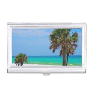 Porte-cartes De Visite Les Etats-Unis, la Floride. Palmiers sur la côte