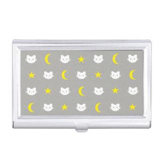 Porte-cartes De Visite Lune de chat et porte-cartes de carte de visite