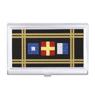 Porte-cartes De Visite Monogramme maritime de drapeau de signal