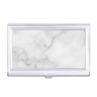 Porte-cartes De Visite Motif de marbre blanc élégant chic