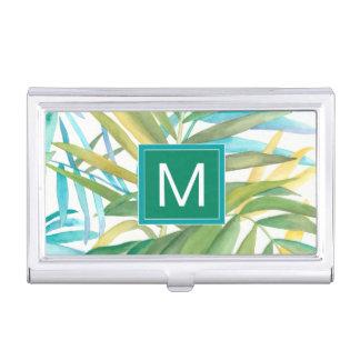Porte-cartes De Visite Palmettes tropicales