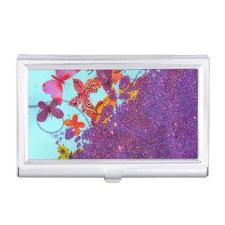 Porte-cartes De Visite Papillons lumineux colorés et scintillement