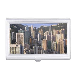 Porte-cartes De Visite Paysage urbain de Hong Kong, Chine