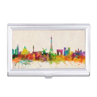 Porte-cartes De Visite Paysage urbain d'horizon de Paris France