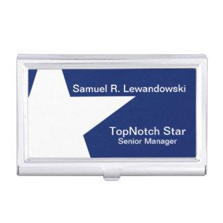 Porte-cartes De Visite Personnalisable élégant d'étoile blanche