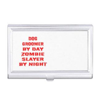 Porte-cartes De Visite Plaisanterie de zombi de Groomer de chien