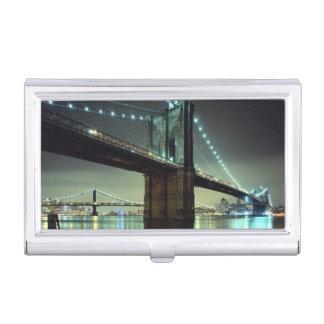 Porte-cartes De Visite Pont de Brooklyn au pont de Manhattan de nuit