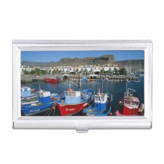 Porte-cartes De Visite Port de pêche, Puerto de Mogan, mamie Canaria,