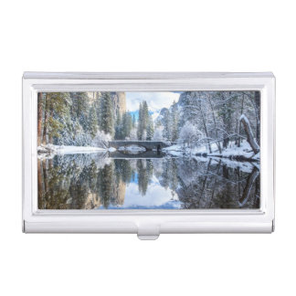 Porte-cartes De Visite Réflexion d'hiver chez Yosemite
