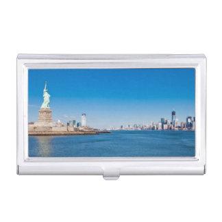 Porte-cartes De Visite Statue de la liberté, du fleuve Hudson et de