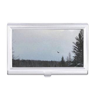 Porte-cartes De Visite Support d'étui de cartes de paysage d'Eagle en vol