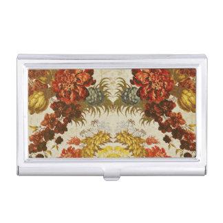 Porte-cartes De Visite Textile avec un motif floral de répétition