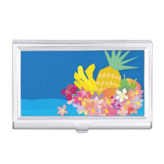 Porte-cartes De Visite Vagues tropicales de fleur