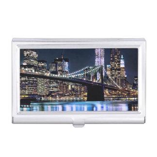 Porte-cartes De Visite Vue de la réflexion de pont de Brooklyn de New