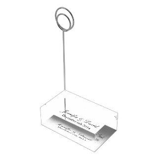 Porte-cartes décoré d'un monogramme de table pour porte-photo