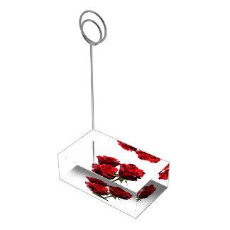 Porte-cartes d'endroit de Tableau de roses rouges Porte-photos
