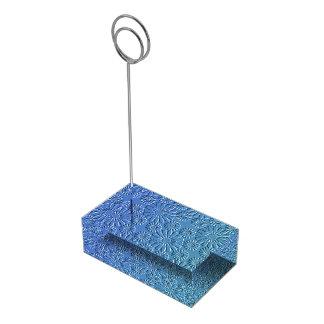 Porte-cartes floral bleu de Tableau Porte-photos
