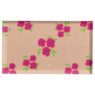 Porte-cartes floral d'endroit de Tableau Porte-photo