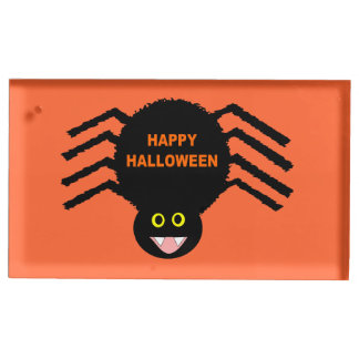 Porte-cartes noir de Tableau de Halloween Spdier Porte-cartes De Table