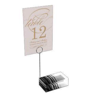 Porte-cartes noir de Tableau du feu III par C.L. Porte-cartes De Table