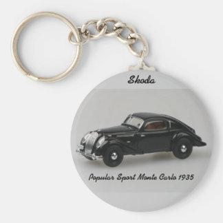 Porte - clé 1935 populaire de Monte Carlo de sport Porte-clé Rond