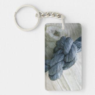Porte - clé à simple face acrylique de noeud porte-clé  rectangulaire en acrylique une face