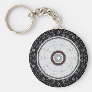 Porte - clé à télécommande de kaléidoscope porte-clé rond