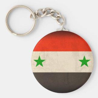 Porte - clé affligé par drapeau de la Syrie Porte-clé Rond