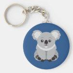Porte - clé Animated d'ours de koala Porte-clé Rond
