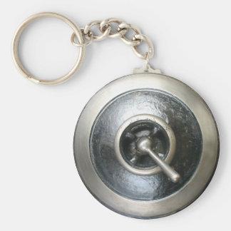 Porte - clé antique de commutateur de machine à porte-clé rond