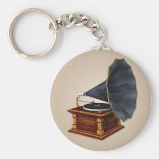 Porte - clé antique vintage de tourne-disque porte-clés