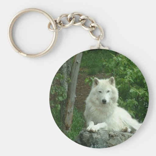 Porte - clé arctique de loup porte-clé rond