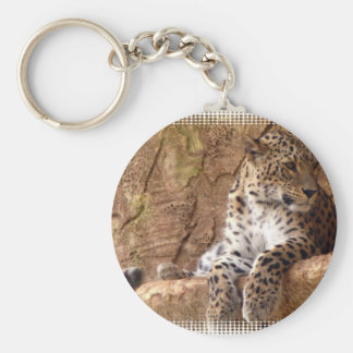 Porte - clé attentif de léopard porte-clef