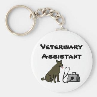 Porte - clé auxiliaire vétérinaire porte-clé rond