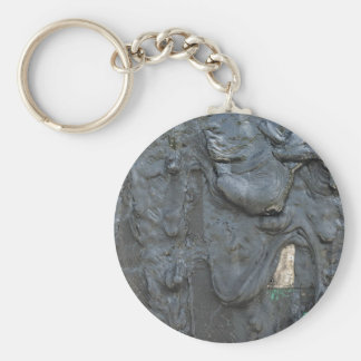 Porte - clé avec de l'huile collante porte-clé rond